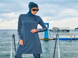 Marokańska hidżabowa tkanina plażowa