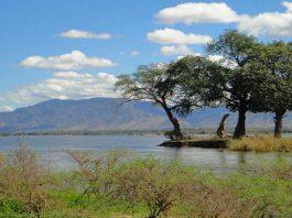 Zambia niebo chmury jezioro